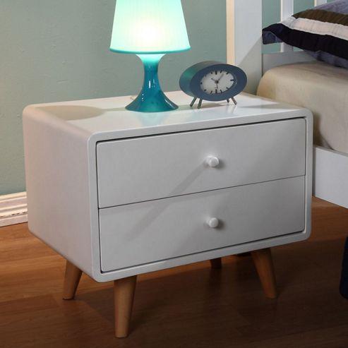 Children's Bedside Tables: White High Gloss Decor Ideas