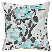 Tesco Embroidered Floral Teal Cushion