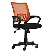 Flux Orange Mesh And Fabric Office Chair