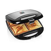 Tower T27010 4 Slice Stainless Steel Sandwich Maker - Black