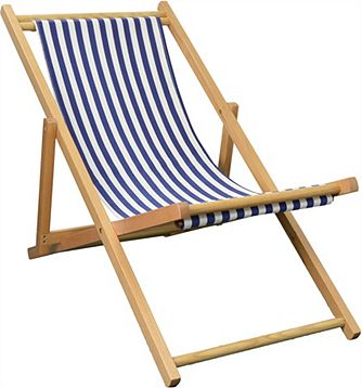 Harbour Housewares Garden Deck Chair 3 Positions Blue White Stripe Catalogue Number 450 2114