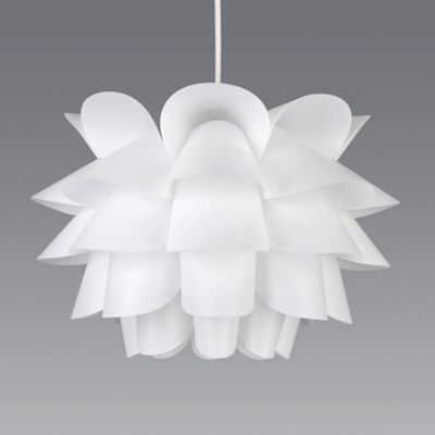 Danish style ceiling pendant light shade white