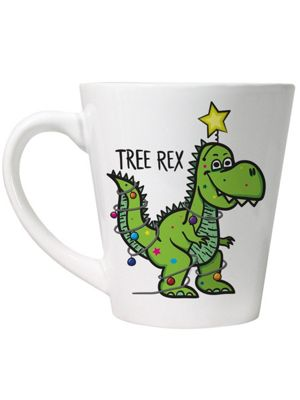 Tree Rex Latte White Mug,