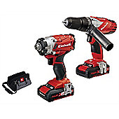 Einhell Power-X-Change Combi & Impact Driver Twin Pack 18 Volt 2 x 1.5Ah Li-Ion
