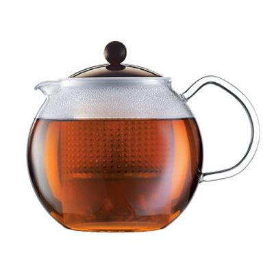 Bodum Assam 1L Tea Press Teapot with Brown Lid