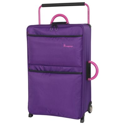 Buy IT Luggage World's Lightest 2-Wheel Large Purple Suitcase from ...
