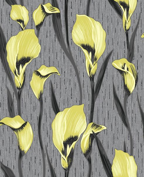 Crown Cala Lily Lime Green Wallpaper