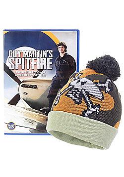 Guy Martin's Spitfire DVD & Exclusive Ltd Edition Merlin Bobble Hat Beanie