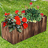 Outsunny Garden Flower Wooden Rectangle Planter Vegetable Display (80L x 33W x 30H (cm))