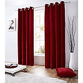Alan Symonds Velvet Eyelet Curtains - Red