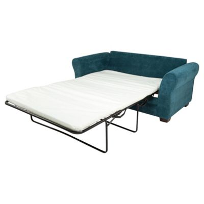 Amelie Fabric Standard Back Sofabed in Teal