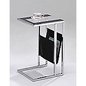 ValuFurniture Sheldon Magazine Table - Clear and Black Glass