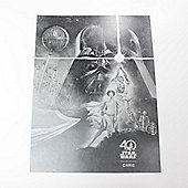 """""""Star Wars Personalised Limited Edition 40th Anniversary Foil Print (12x16"""""""") - Retro Poster"""""""