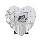 Grey And White Vintage Love Heart Photo Frame 3 X 3