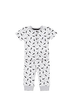 F&F Rocket Print Twosie Pyjamas - White & Black