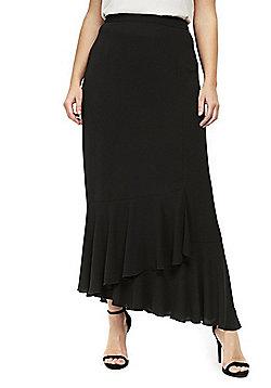 Evans Ruffle Hem Plus Size Skirt - Black