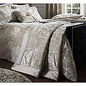 Catherine Lansfield Crushed Velvet Bedspread - 220x220cm - Natural