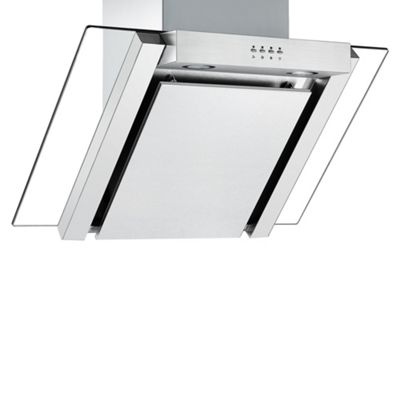 Cookology ANG705SS Designer Extractor Fan | 70cm Angled Glass Chimney Cooker Hood in Stainless Steel