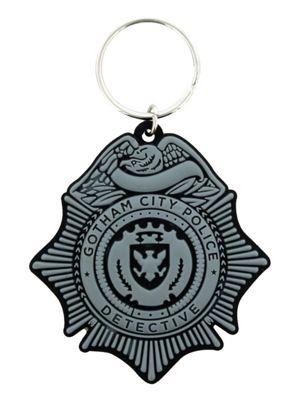 Batman Gotham City Police Detective Badge Keyring