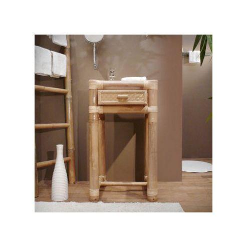 Tikamoon Balyss Square Bamboo Console Table