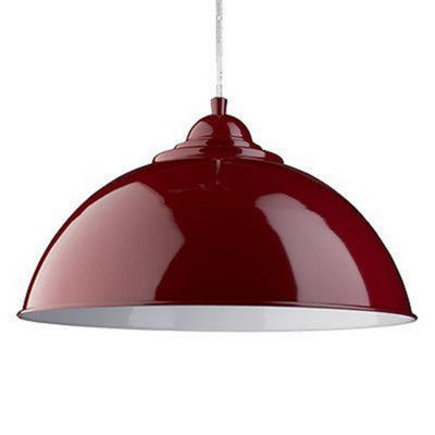 SANFORD - PENDANT HALF DOME RED
