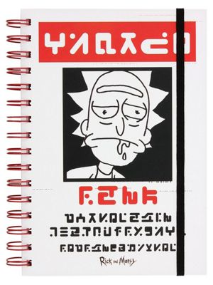 Rick and Morty Wanted A5 Notebook