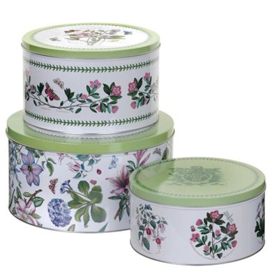 Pimpernel Botanic Garden Cake Storage Tins, Set of 3