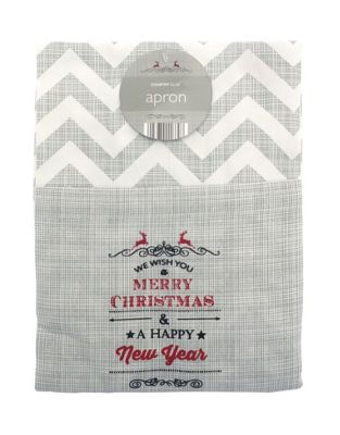 County Club Vintage Christmas Design Apron
