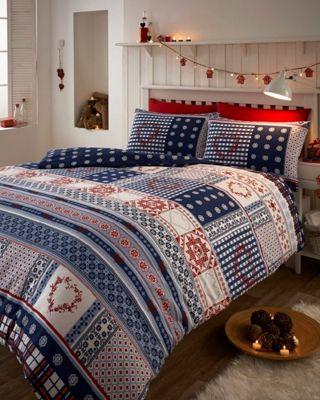 buy nordic flannelette duvet cover set from our super king. Black Bedroom Furniture Sets. Home Design Ideas