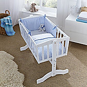 Clair de Lune 2pc Crib Bedding Set (Barley Bebe Blue)