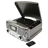 GPO Memphis Turntable with FM Radio and CD Silver