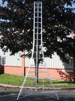 Ladders-Online Trade 4.8m (15.7ft) Standard - Garden Hedge Cutting Tripod Ladder