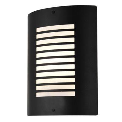 Litecraft Horizon 1 Bulb Outdoor Slatted Wall Light, Black