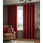 Catherine Lansfield Brushed Heritage Plain Curtains - Red