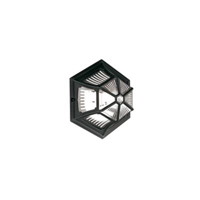 Black Up Ceiling Flush Lantern - 1 x 100W E27