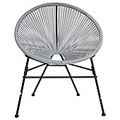 Charles Bentley Garden Retro Lounge Chair in Grey