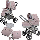 Bebecar Ip-Op Evolution Magic Chrome Combi Pram (Candy Floss)