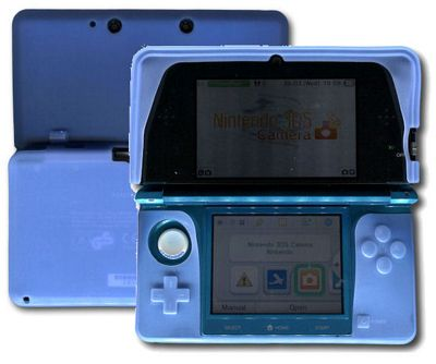 Nintendo 3DS - 3D Console U-Bop BoldFLEX Flexible Body-Skin Case and StampWIPE, Blue