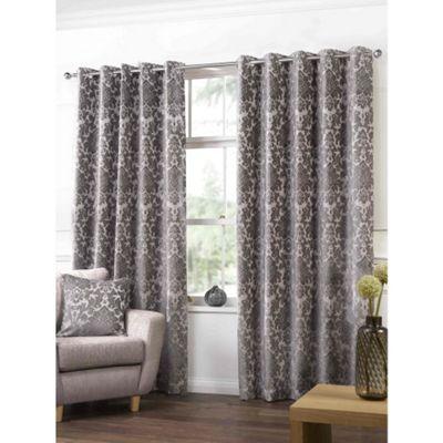 Highgate Latte Eyelets Curtains - 90x54 Inches (229x137cm)