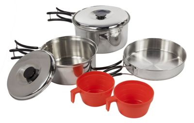 Regatta Compact Steel Cook Set - Silver
