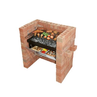 buy bar be quick built in grill bake charcoal barbecue. Black Bedroom Furniture Sets. Home Design Ideas