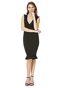 AX Paris Ruffle Midi Dress - Black