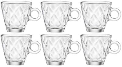 Kaleido Espresso Coffee Glasses - Set Of 6 - 100ml (3.5oz)