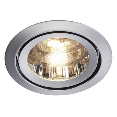Luzo Downlight Round Chrome Matte Max. 50W Recessed Aluminium Ring