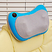 Homcom Electric Shiatsu Heat Cushion Massage Back Neck Shoulder Rest Heating Massager Relax (Blue)