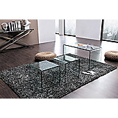Modena Bent Glass Coffee Table (Clear)