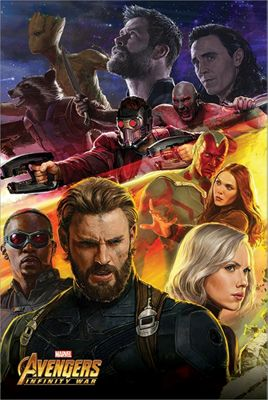 The Avengers Infinity War Captain America Poster 61 x 91.5cm
