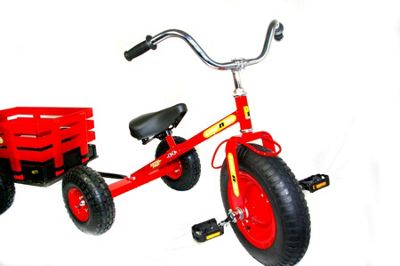 Tow 'n' Go Childrens Trike / Tricycle with Trailer Red