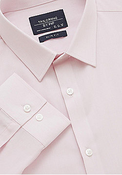 F&F Easy Care Slim Fit Shirt - Pink
