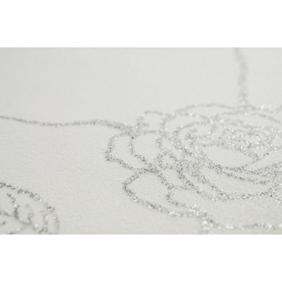 Superfresco Easy Paste The Wall Rose Silver Floral Wallpaper